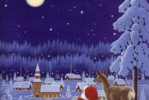 animated santa and christismas
