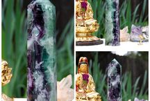 Fluorite / Fluorite crystal points, spheres and pyramids. Find gorgeous fluorite and other beautiful crystals in my Etsy shop JGBeadedJewelry.Etsy.com