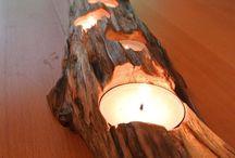Portacandele legno