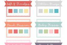 Farbkombinationen / Colors