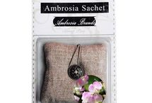 Sachets / Ambrosia Scent Sachets are an easy way to eliminate undesirable odors and fill your home with your favorite scent. Place individual sachets in your sock drawers, laundry room and bathrooms or use our Ambrosia Scent Decor to diffuse fragrance throughout your home. It's a breeze to use with no wax, heat or mess involved!
