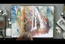 aquarelles paysages