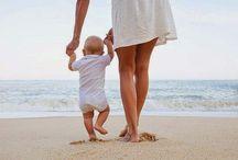 Fotos com filhos na praia