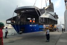 New Yacht Under Construction / Superstructure setting up