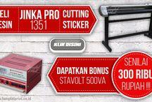 PROMO…!!! Jual Mesin Cutting Sticker JINKA PRO 1351 BONUS STAVOLT 500VA