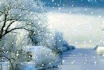Gif meravigliose invernali di neve e Natale