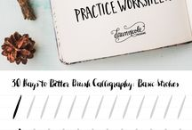 Brush calligraphy sheets