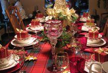 dekoracja stołu Christmas