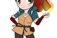 The witcher 3 / Cute Witcher 3 game characters