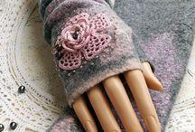 Felt Cuffs/Fingerless Gloves