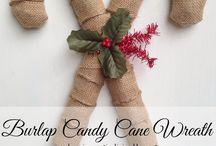 Christmas (burlap crafts) / by Lisa Peel