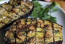 Melanzane e insalata di zucchine