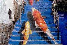 FAUNA // Unterwasserwelt : Kois // Underwater world: Koi fish / Zeichnungen von Kois, Koi-Stempel, wie zeichne ich einen Koi, Farben, Strukturen, Koi-Illustrationen, Stickerei Koi : Drawings of Kois, Koi stamp, how to draw a Koi, colors, textures, Koi illustrations, embroidery Koi