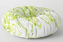 Abstract Floor Cushions