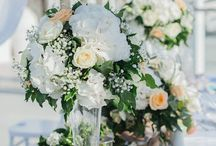 Our weddings beautiful floral decorations / Santorini Marvellous Wedding