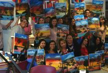 Paint Party at I Paint Today / We do know how to have fun!