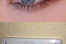 false eyelashes and tips