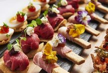 Canapés / Canapés, Light bites, Finger Food. Inspiration on style, ways of serving and ingredients