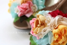 Fabric Floral Bouquet Ideas / fabric, brooch, button, beads, and more