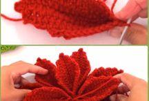 flor de Navidad de crochet