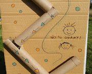 Zabawki z kartonu / Tor kuleczkowy