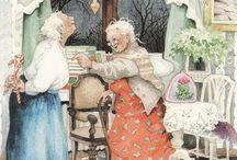 Inge Löök  és Olga Gromova illusztrátor