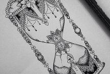 lår tatuering