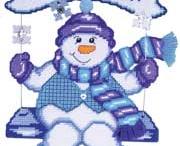 Snowman sitting down / Snowman sitting down