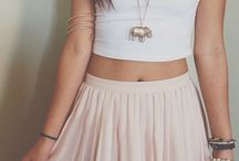 Skirts and Crop Top