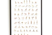 Yoga posters / Yoga posters with body positive drawings for your walls