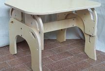 Montessori tavolini in legno per bambini