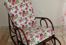 Rocking Chair  / This handmade Rocking Chair is made of durable bamboo, and complimented with comfortable and stylish cushioned seating.  Rocking chairs are considered the most comfortable item in your living space, it can be used in bedrooms, nurseries and living rooms.  We can make these items to your liking, hundreds of colors and fabrics are available for custom designed chairs, please contact us for more information.