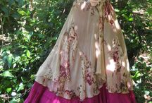 hippie, fairy, natural flowing clothing