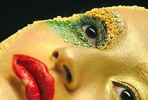 Makeup / Headshots of my avant-garde makeup.