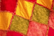 Quilts!! / I have started a new hobby. Quilting!! Here is my first rag quilt. Love :) / by Marci Flinders