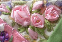 Silk Ribbon Flowers