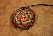 OM SYMBOL WOOD NECKLACE