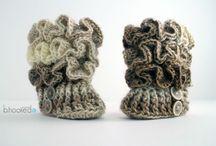 pletení/háčkování-boty