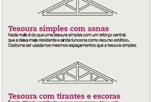 plantas, telhados e construções