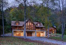 Σπίτια από κορμούς δένδρων