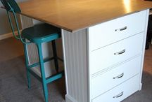 Sewing Rooms / How to keep my creative space organised and inspiring. Storage solutions. A layout that works.