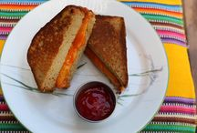 Grilled Cheese Sandwich Cake / Eggless Pound Cake bread,Chocolate Cheese and Sugar Icing ketchup