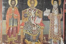 Theophanis - The Cretan Painter / Θεοφάνης Στρελίτζας -  Icon painter and probably the most important figure in Greek fresco-painting of the Cretan School, early 16th Century.