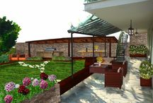 Exteriors Makeovers / Proposes possible makeovers for outdoor areas.