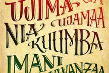 Kwanzaa / Ways to celebrate the African festival of Kwanzaa.