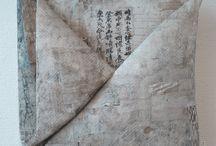 Textile Japon / Calligraphie