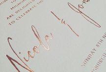 W E D D I N G / Inspiring wedding stationery design.