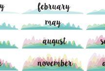 calendar printables free