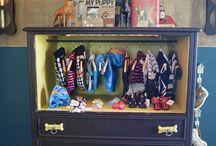 dresser. dogs