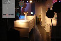 Diseño de stand de Gepetto, Muebles Infantiles y Juveniles, Fimar 2015 / Chupetines gigantes para un Stand de muebles Juveniles